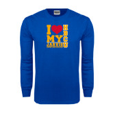 Royal Long Sleeve T Shirt-I Heart My HBCU Jarvis