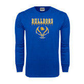 Royal Long Sleeve T Shirt-Basketball in Ball Design