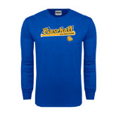 Royal Long Sleeve T Shirt-Baseball Bat Design