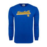 Royal Long Sleeve T Shirt-Baseball Bat Design