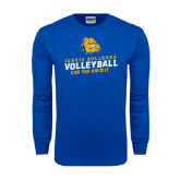 Royal Long Sleeve T Shirt-Can You Dig It - Volleyball Design