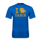 Syntrel Performance Royal Tee-I Love Dance Design