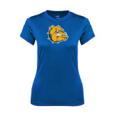 Ladies Syntrel Performance Royal Tee-Major - Bulldog Head