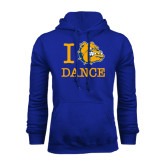 Royal Fleece Hoodie-I Love Dance Design