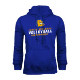Royal Fleece Hoodie-Can You Dig It - Volleyball Design
