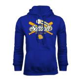 Royal Fleece Hoodie-Crossed Bats Softball Design
