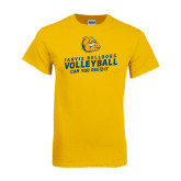 Gold T Shirt-Can You Dig It - Volleyball Design