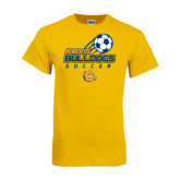 Gold T Shirt-Soccer Ball Stacked Desgin