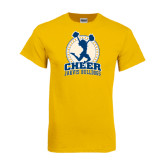 Gold T Shirt-Cheer Design