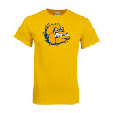Gold T Shirt-Major - Bulldog Head