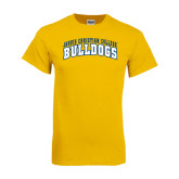 Gold T Shirt-Arched Jarvis Christian College Bulldogs