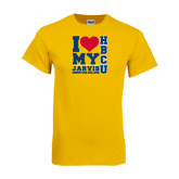 Gold T Shirt-I Heart My HBCU Jarvis