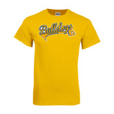 Gold T Shirt-Scripted Bulldogs w Major