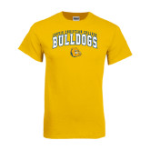 Gold T Shirt-Arched Jarvis Chrsitian Bulldogs w/ Major