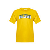Youth Gold T Shirt-Arched Jarvis Christian College Bulldogs
