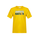 Youth Gold T Shirt-Jarvis Nation