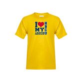 Youth Gold T Shirt-I Heart My HBCU Jarvis