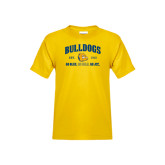Youth Gold T Shirt-Go Blue . Go Gold . Go JCC