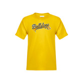 Youth Gold T Shirt-Scripted Bulldogs w Major