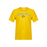 Youth Gold T Shirt-Arched Jarvis Christian College - Script