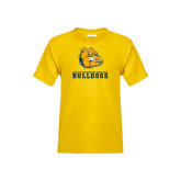 Youth Gold T Shirt-Jarvis Chrsitian College Bulldogs w/ Major Stacked