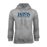 Grey Fleece Hoodie-Jarvis Christian College - Institutional Mark