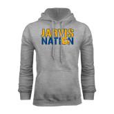 Grey Fleece Hoodie-Jarvis Nation