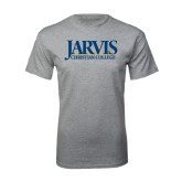 Grey T Shirt-Jarvis Christian College - Institutional Mark
