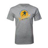 Grey T Shirt-Basketball w/ Player in Ball Design