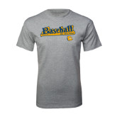 Grey T Shirt-Baseball Bat Design