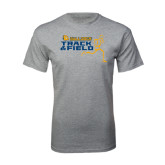 Grey T Shirt-Track and Field Design