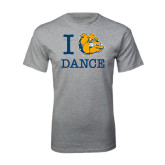 Grey T Shirt-I Love Dance Design