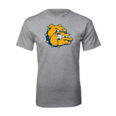 Grey T Shirt-Major - Bulldog Head