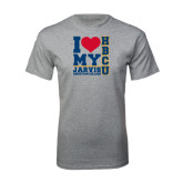 Grey T Shirt-I Heart My HBCU Jarvis