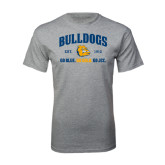 Grey T Shirt-Go Blue . Go Gold . Go JCC