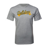 Grey T Shirt-Scripted Bulldogs w Major