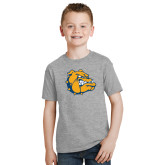 Youth Grey T-Shirt-Major - Bulldog Head