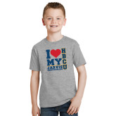 Youth Grey T-Shirt-I Heart My HBCU Jarvis