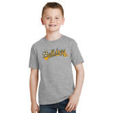 Youth Grey T-Shirt-Scripted Bulldogs w Major