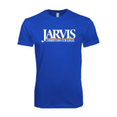 Next Level SoftStyle Royal T Shirt-Jarvis Christian College - Institutional Mark
