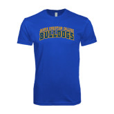 Next Level SoftStyle Royal T Shirt-Arched Jarvis Christian College Bulldogs