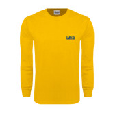 Gold Long Sleeve T Shirt-Jarvis Christian College - Institutional Mark