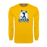 Gold Long Sleeve T Shirt-Cheer Design