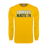 Gold Long Sleeve T Shirt-Jarvis Nation