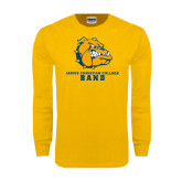 Gold Long Sleeve T Shirt-Band