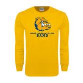 Gold Long Sleeve T Shirt-Band