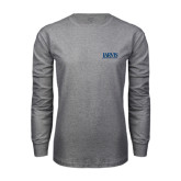 Grey Long Sleeve T Shirt-Jarvis Christian College - Institutional Mark