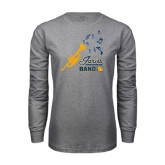 Grey Long Sleeve T Shirt-Band Design