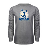 Grey Long Sleeve T Shirt-Cheer Design