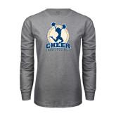 Grey Long Sleeve T Shirt-Cheer Design
